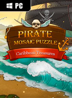 Pirate Mosaic Puzzle. Caribbean Treasures
