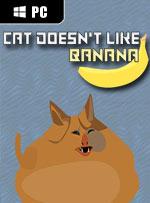 Cat doesn't like banana