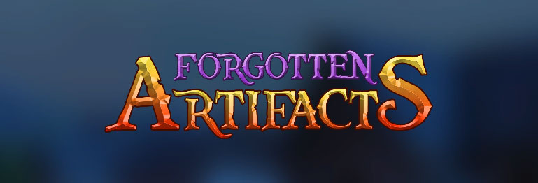 Forgotten Artifacts title screen