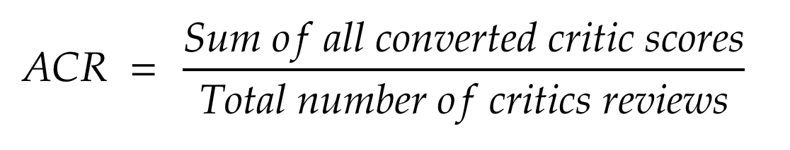 ACR Equation