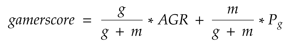 gamerscore Equation