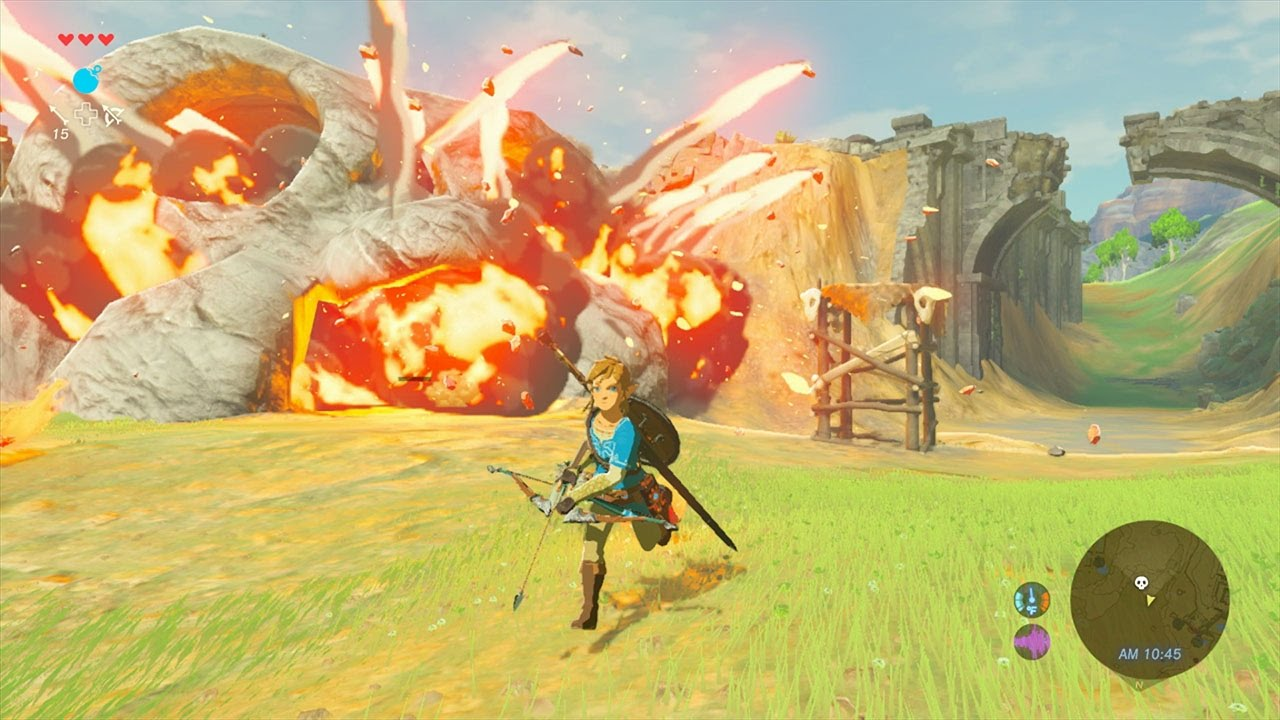 A still from the Legend of Zelda: Breath of the Wild