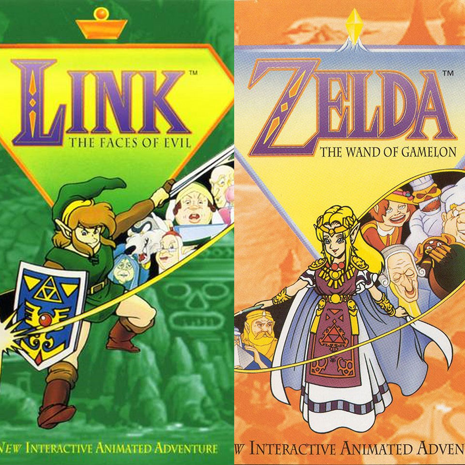 Boxart images from Link: The Faces of Evil and Zelda: The Wand of Gamelon