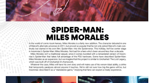 Game Informer says Spider-Man: Miles Morales will be bundled up with a remaster of the 2018 Spider-Man game