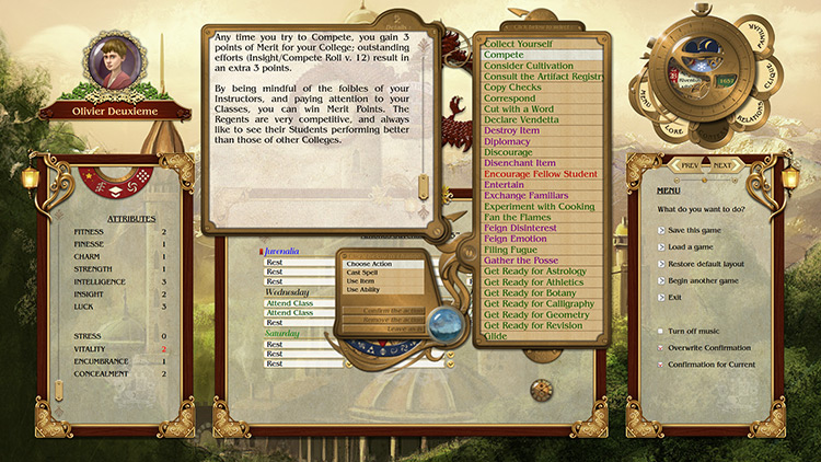 Academagia: The Making of Mages for PC screenshot