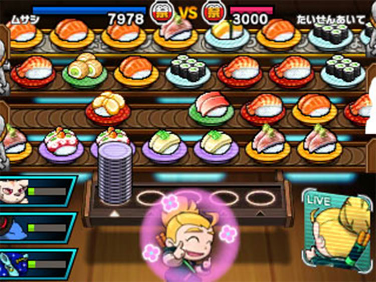 Sushi Striker: The Way of Sushido for 3DS screenshot