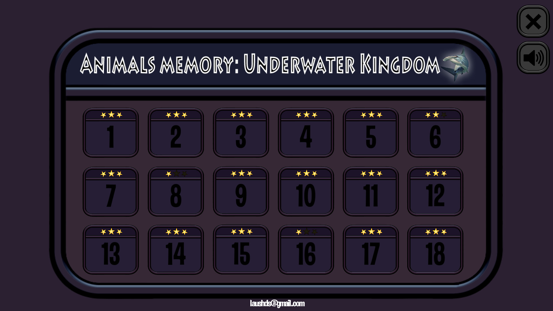Animals Memory: Underwater Kingdom for PC screenshot