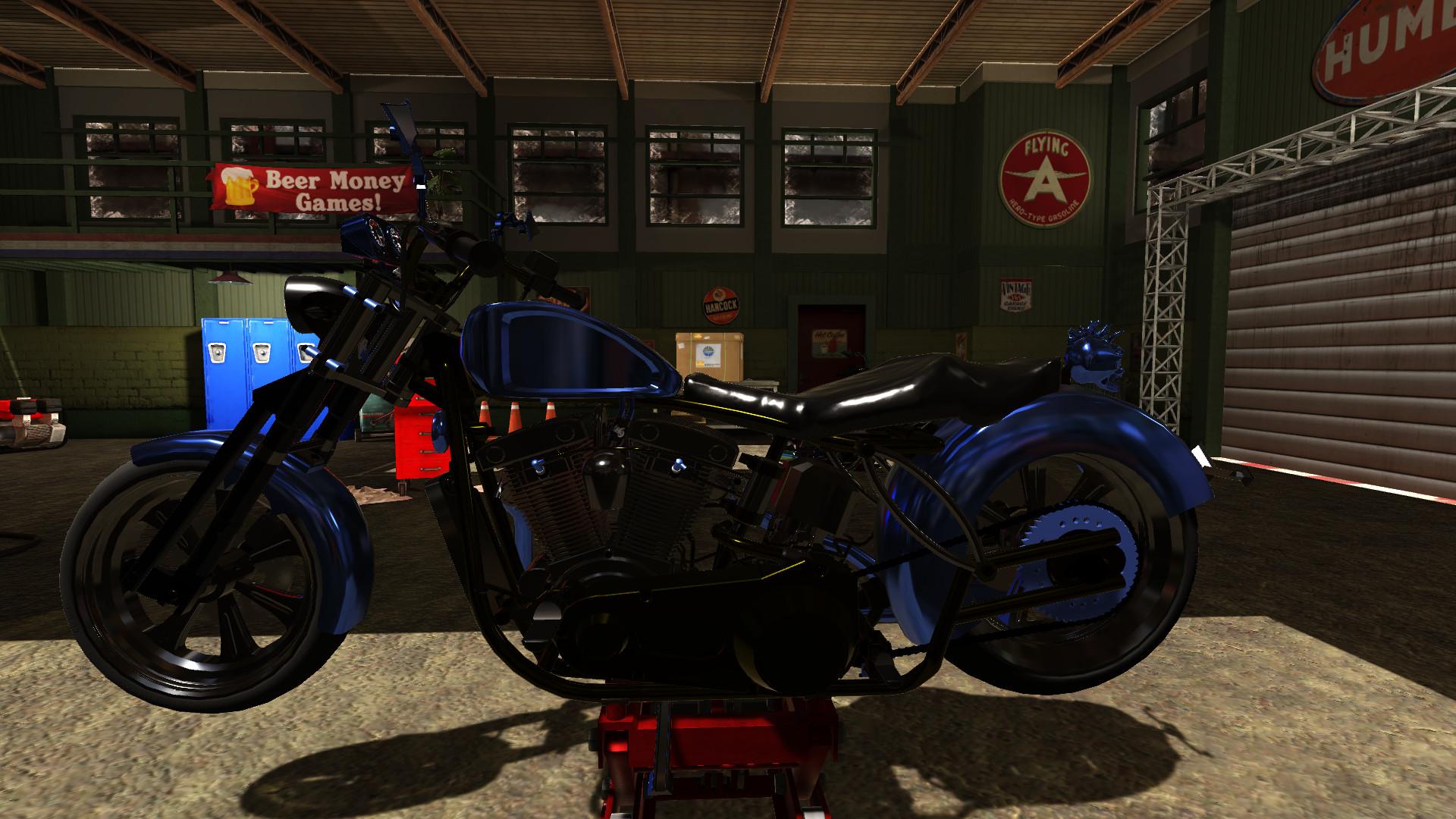 Motorbike Garage Mechanic Simulator for PC screenshot