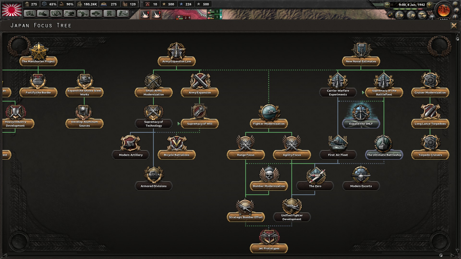 Hearts of Iron IV: Waking the Tiger for PC screenshot