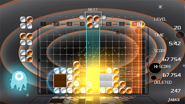 LUMINES REMASTERED for PS4 screenshot